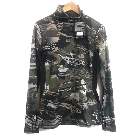101d336e Under Armour Tops | Womens Cowelneck Camo Long Sleeve | Poshmark